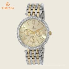 Personalizado logotipo aço inoxidável relógios de pulso com diamantes71189