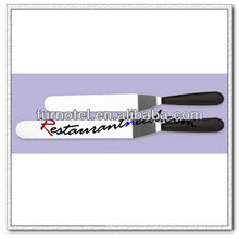 "V307 10"" Offset Spatula with Black Plastic Handle"