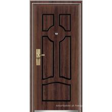 Porta blindada de madeira de aço (YF-G9021)