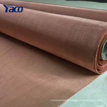 YACHAO 20mesh 40mesh 80mesh 100mesh anti rf fabric red copper wire mesh, brass screen mesh