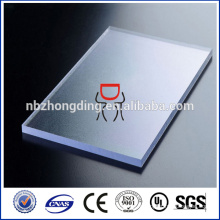 Feuille de pc givrée claire de 4,5x1220x2440 mm pour affichage LED