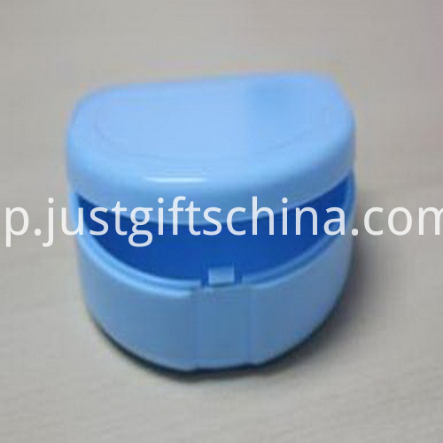 Promotional Flat Blue Color Denture Box_1