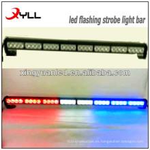 Barra de luz estroboscópica LED / barra de luz ámbar de emergencia de 27 pulgadas / barra de luz estroboscópica intermitente para ambulancia y policía
