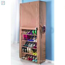 9 Tier Shoe Rack with Cover Simple Stackable Dustproof Plastic Shoe Storage Cabinet