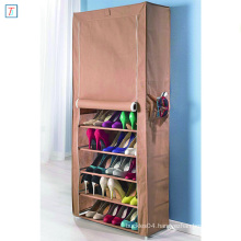 9 Tier Shoe Rack with Cover Simple Stackable Dustproof Plastic Shoe Storage Cabinet
