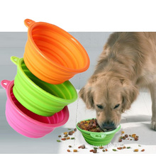 Silicone Collapsible Pet Dog Food Bowl