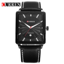 Curren montre rectangulaire watch mininalist design wristwatch