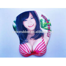 gel japanese girl sexy breast mouse pad