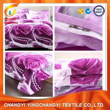 Poliéster de vendas quente impresso tecido de capa de edredão lençol
