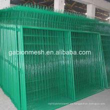 El panel de la cerca del acoplamiento de alambre soldado negro de la alta calidad / pvc cubrió la cerca soldada del acoplamiento de alambre