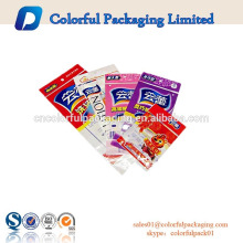 Custom PE bag for packaging briefs with zipper/high quality