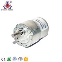 Motor reductor CC de baja velocidad de 9 V con caja de cambios de 37 mm