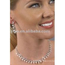 Joyería del rhinestone de la perla del estilo de la celebridad fijada