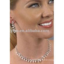 celebrity style pearl rhinestone jewelry set