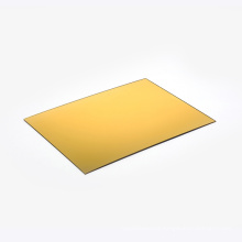 OLEG 4*8ft cutting customized acrylic gold mirror sheet for widely decorations