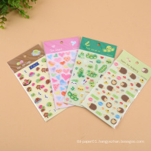 MOQ 500 Eco-Friendly Waterproof Oil-Proof Custom Puffy Sticker Sheet