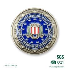 Moeda personalizada da lembrança do esmalte macio federal do logotipo da flor