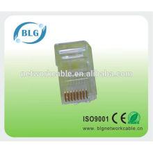 Precio de fábrica RJ45 8P8C enchufe modular para cable de red utp