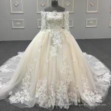 Véritable gros robe de soirée de luxe photo organza robe de bal bouffantes robes de bal