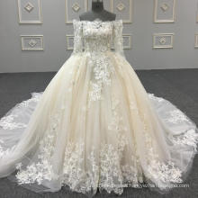 Real wholesale luxury party dress picture organza prom dress puffy prom dresses