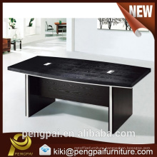 Black melamine board office Meeting Table HY717