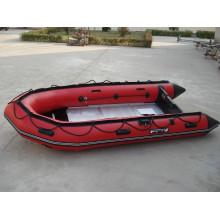 Barco inflável popular do PVC do motor para a pesca ea deriva