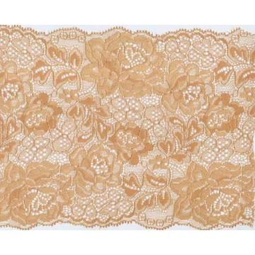 Ajuste del encaje spandex ribete nylon bordado vintage para lencería