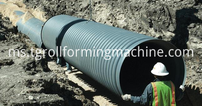 Automatic Spiral Steel Culvert Pipe Making Machine