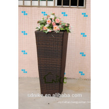 Hot sell decorative rattan flower vase+ outdoor garden chinese vase +large decorative floor vases