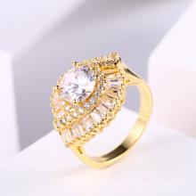 Anillo de joyería de las mujeres nuevo diseño 18k anillo de dedo de oro joyas de circón
