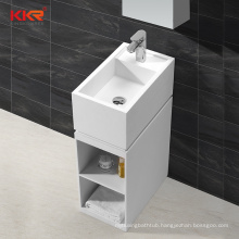 Bathroom dining room hotel stone resin pedestal stone sink freestanding hand wash basin