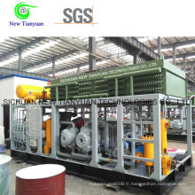 Grande station utilise un compresseur CNG à gaz naturel comprimé
