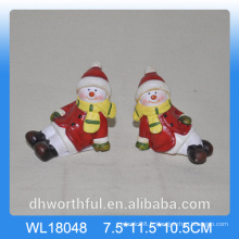 Vente en gros de neige en céramique 2016 pour la décoration de Noël