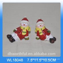 Atacado 2016 boneco de neve de cerâmica para decoração de Natal