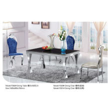 Rectangle Glass/Marble Dining Table (T092)