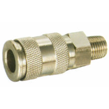 Male Plated Brass, Steel Pneumatic Air Quick Couplers For Water, Oil
