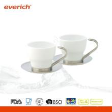 Taza de café de encargo de la porcelana del drinkware