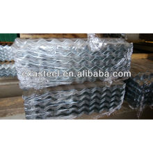 Galvanized corrugated metal roofing
