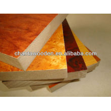 decorative melamine mdf board