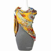Мода печати шифон бабочка шарф квадратный шарф