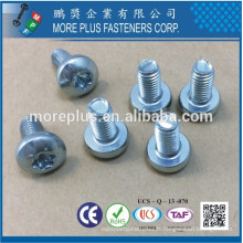 Fabriqué à Taiwan Acier au carbone Gewindefurchende Schrauben Pan Head Full Thread Trilobular Thread Roll Screw