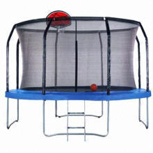 Trampoline/Outdoor Fitness Exercise Equipment with Safety Net, Inner Enclosure