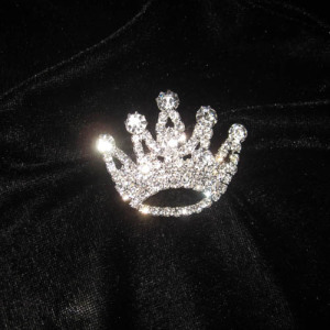 Crystal Rhinestone Crown Sash Pins
