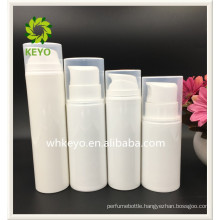 150ml 200ml Hot sale high quality make up packing white colored empty cosmetic PP airless pump lotion bottle