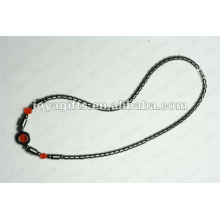 Magnetic Hematite Orange Glass beaded Necklace