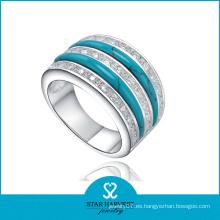 Nuevo anillo de joyería de plata con ajuste de canal Come (R-0305)