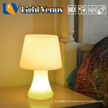 Novo design clássico candeeiro de mesa candeeiro de mesa de mesa sem fio LED lâmpadas recarregáveis com porta USB