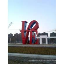 Modern Large Arts Abstract Escultura de acero inoxidable para decoración al aire libre