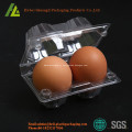 Clear retangular transparente bandeja plástica do ovo