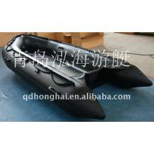 barco do pontão em venda 4,3 m barco inflável do assoalho de alumínio militar